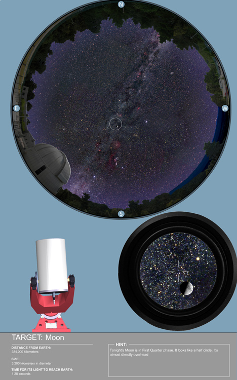 Telescope search screen shot